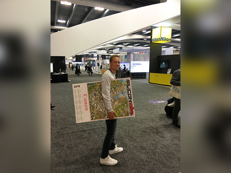 Silicon Valley map tradeshow