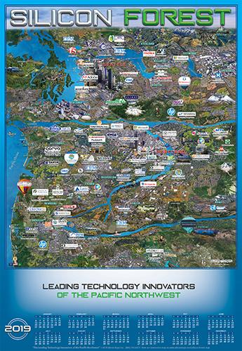 Oregon and Washington Technology map