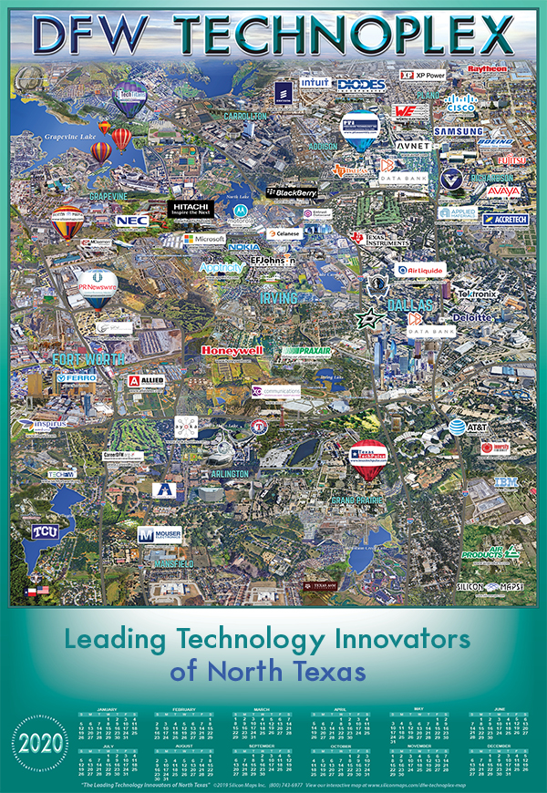DFW Technoplex map of 2020