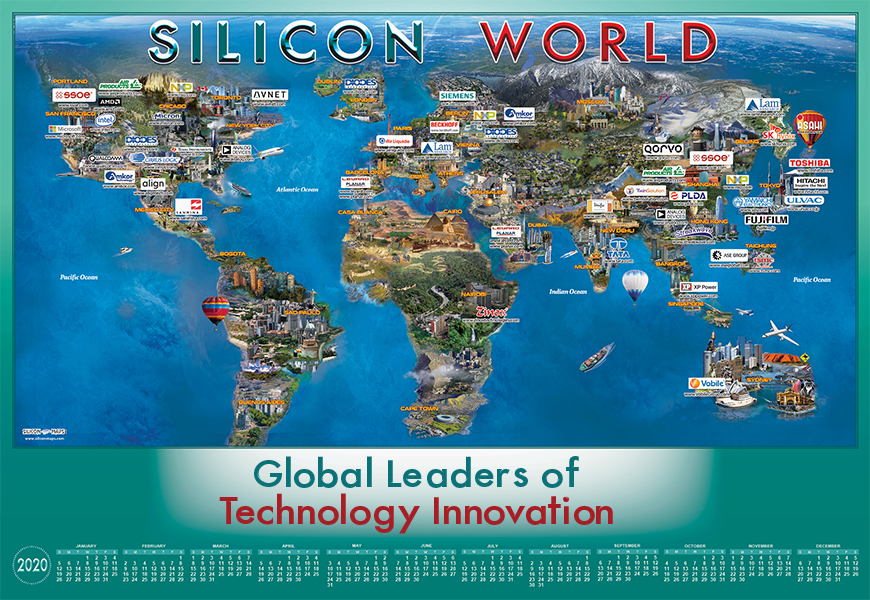 Silicon World map of 2020