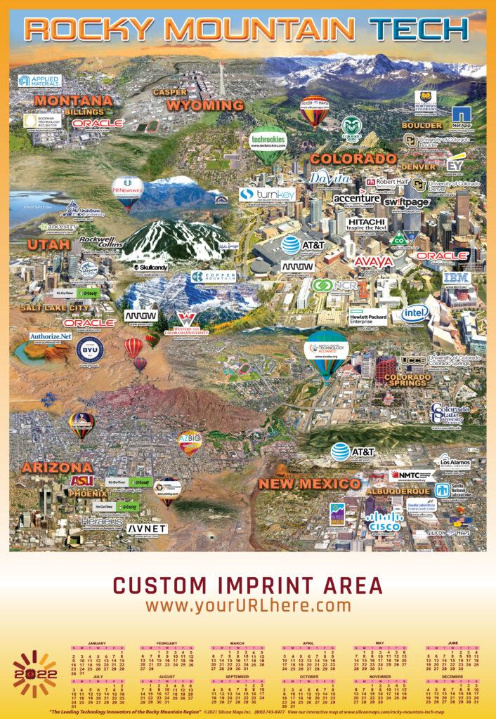 RMT22, Rocky Mountain Tech, Tech, Map, Business, Technology, hardware, software, companies
