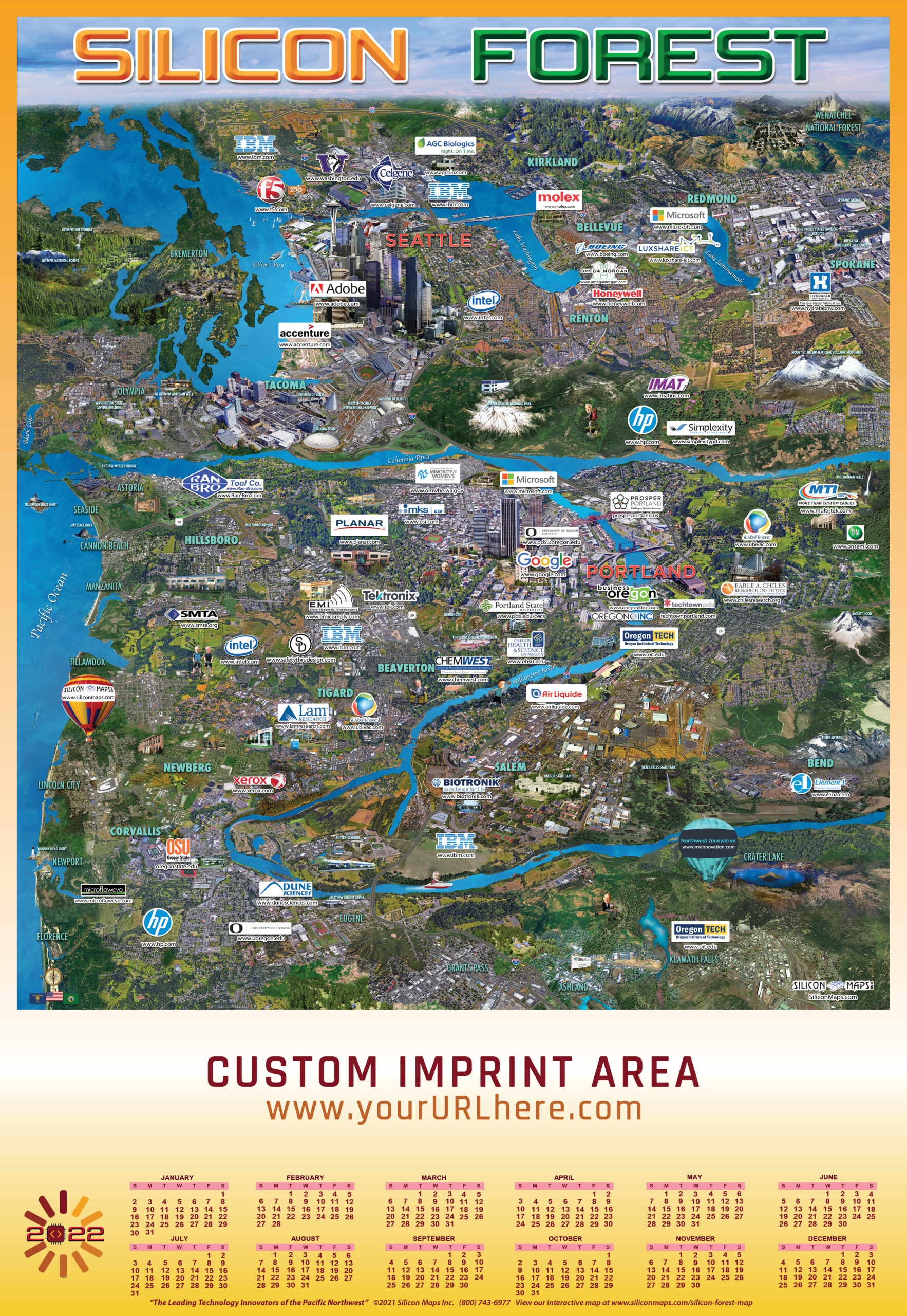 SF22, Silicon Forest, Tech, Map, Business, Technology, hardware, software, companies