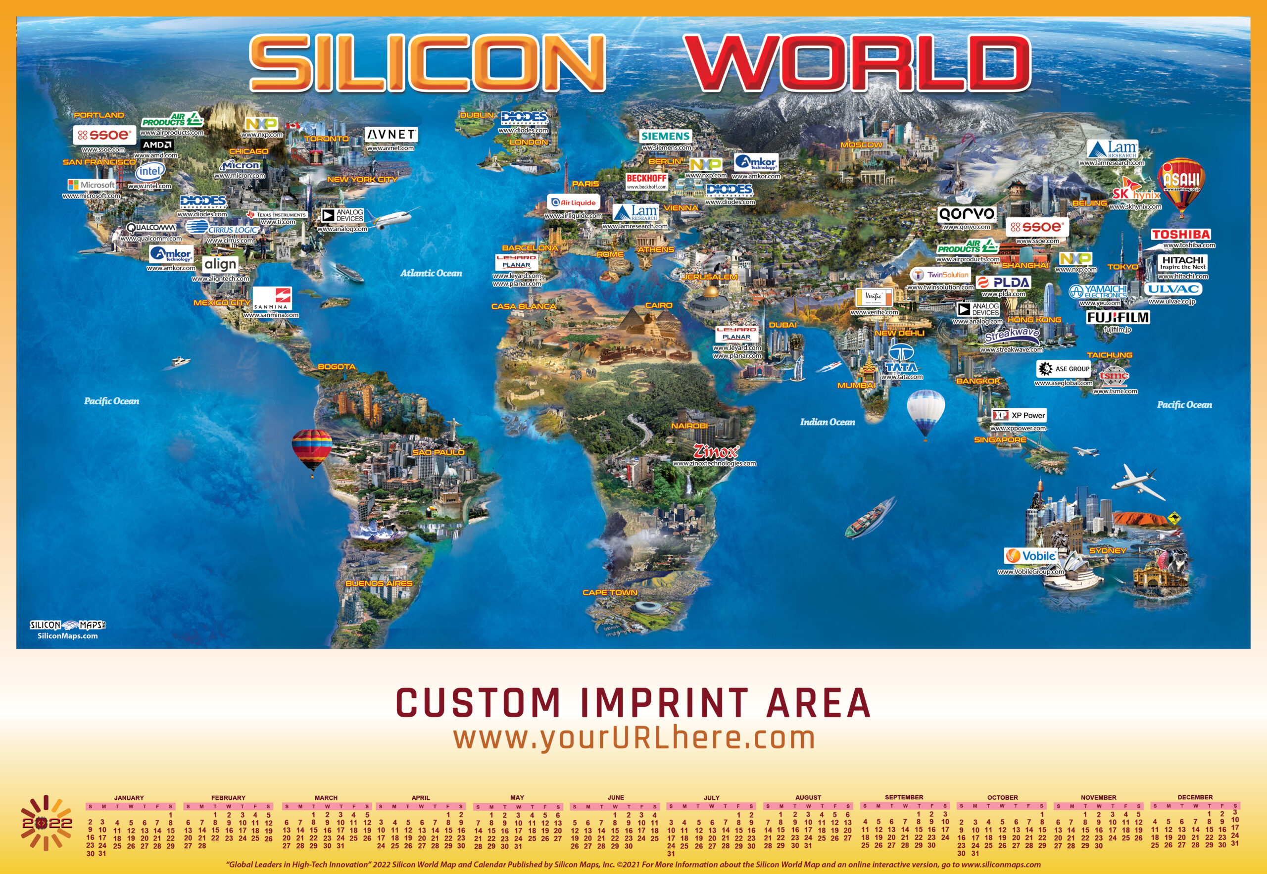 SW22, Silicon World, Tech, Map, Business, Technology, hardware, software, companies,global