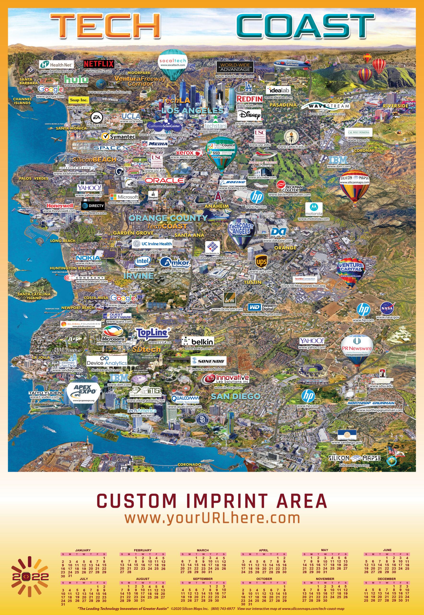 TC22, Tech Coast, Tech, Map, Business, Technology, hardware, software, companies